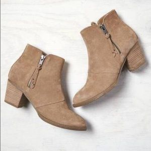 American Eagle Taupe Suede Booties